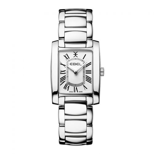 Ebel Brasilia Lady Mini Damenuhr silber Zifferblatt weiß Quarz Edelstahl poliert 1216461 | Uhren-Lounge