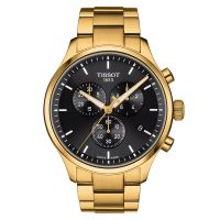 Tissot Chrono XL Classic Gold Schwarz Quarz 45mm Herrenuhr Chronograph T116.617.33.051.00