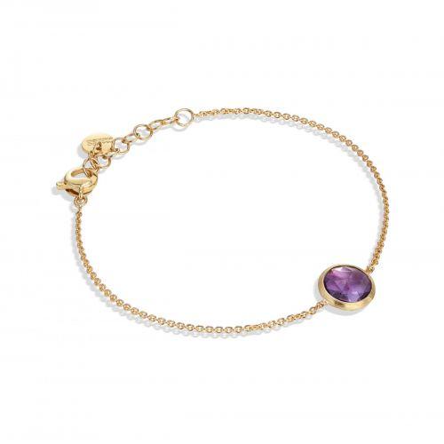 Marco Bicego Jaipur Armband mit lila Amethyst Edelstein Gold 18 Karat BB2579 AT01