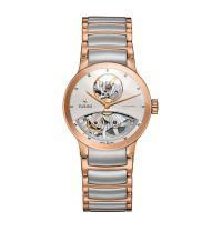 Rado Centrix Automatic Open Heart Damen M Silber Rosegold Bicolor Edelstahl-Armband 33mm R30248012