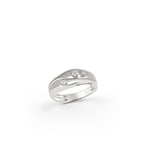 Annamaria Cammilli Ring Dune Weißgold mit Diamanten White Ice GAN2662W | Uhren-Lounge