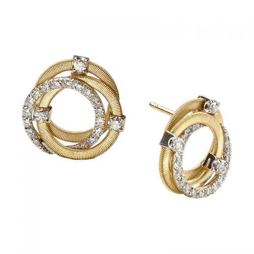 Marco Bicego Ohrstecker Gold & Diamanten Goa Ohrringe OG308 B2 YW