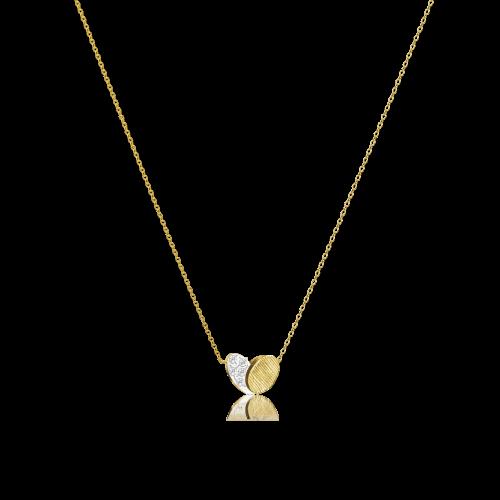 Luisa Rosas BE Herz Kette Gold mit Diamanten LRBE137