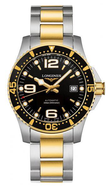 Longines HydroConquest 41mm Bicolor Schwarz Automatic Edelstahl-Armband Taucheruhr L3.742.3.56.7   Uhren-Lounge