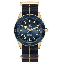 Rado Captain Cook Bronze Blau Nato-Textil-Armband Automatic XL 42mm Herrenuhr R32504207