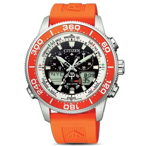 Citizen Promaster Marine Eco Drive Yacht Herrenuhr 44mm orange Analog & Digital JR4061-18E günstig online kaufen | Uhren-Lounge