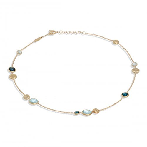 Marco Bicego Jaipur Kette mit blauen Topas & London Topas Edelsteinen Gold CB1485 MIX725 Y