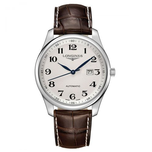 Longines Master Collection 42mm Silbern Leder-Armband Herrenuhr Automatik L2.893.4.78.3