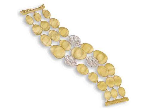 Marco Bicego Damen Armband Lunaria Mother Of Pearl 18 cm mit 1,33 Karat Diamanten BB1899 B MPW YW