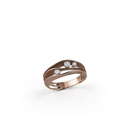 Annamaria Cammilli Ring Dune Brown Chocolate Gold mit Diamanten GAN2662C | Uhren-Lounge