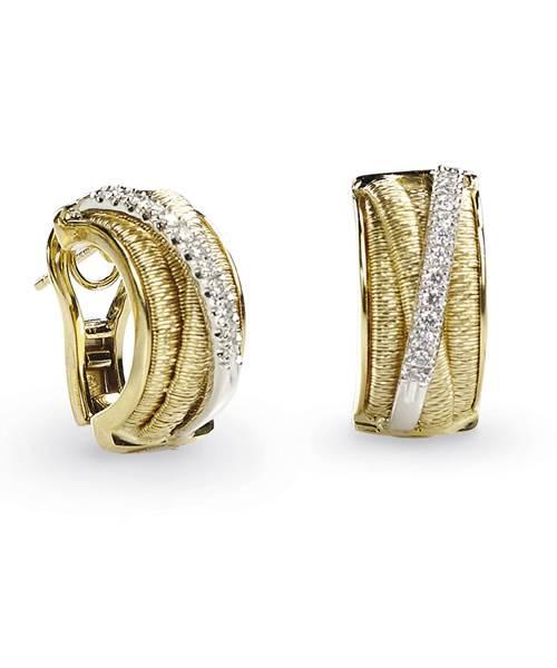 Marco Bicego Ohrringe Bicolor Gelbgold Weißgold mit Diamanten Cairo OG323 B | Uhren-Lounge