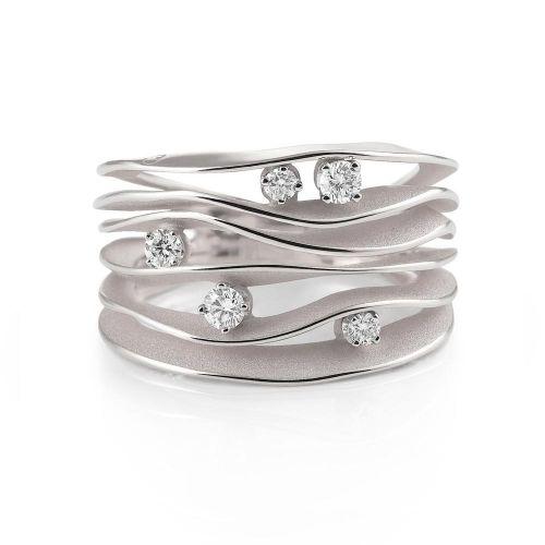 Annamaria Cammilli Ring Weißgold mit Diamanten White Ice Dune GAN0914W | Uhren-Lounge