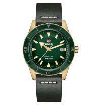 Rado Captain Cook Automatic 42mm Bronze Grün Leder-Armband Herrenuhr R32504315 | Uhren-Lounge