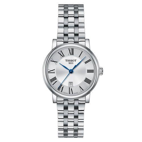Tissot Carson Premium Lady Damenuhr Silber Edelstahl-Armband 30mm Quarz T122.210.11.033.00