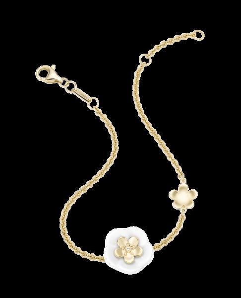 Meissen Armband Gold 2 Porzellan Blüten 1739 Royal Blossom MPJ30BL358C19