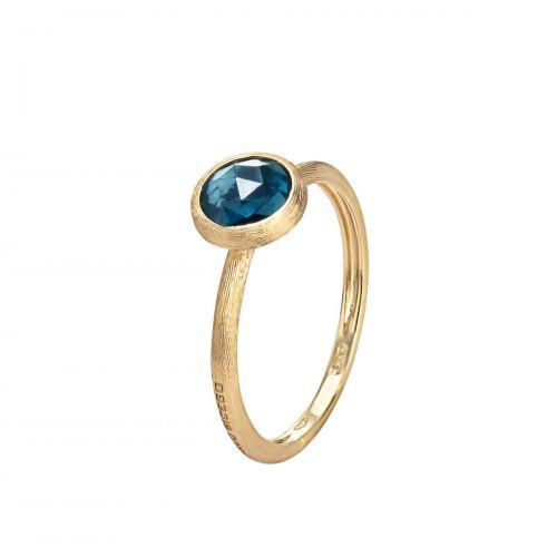 Marco Bicego Jaipur Ring mit blauem London-Topas Edelstein Gold 18 Karat AB471-TPL01