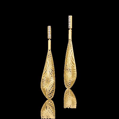 Luisa Rosas Tribe Ohrringe Gold mit Diamanten LRTR075