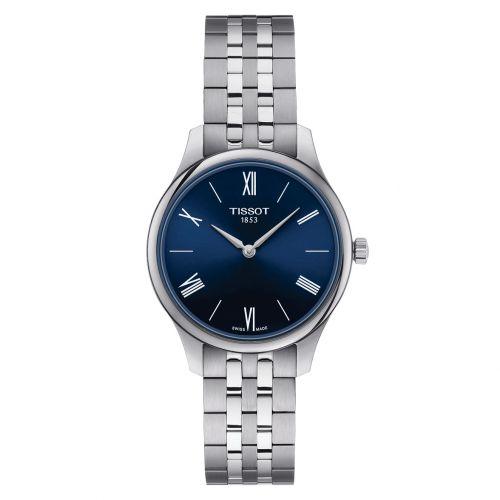Tissot Tradition Lady Blau Edelstahl-Armband Quarz Damenuhr 31mm T063.209.11.048.00   Uhren-Lounge