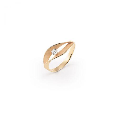 Annamaria Cammilli Ring Dune Assolo Orange Gold mit Diamanten Essential GAN3236J