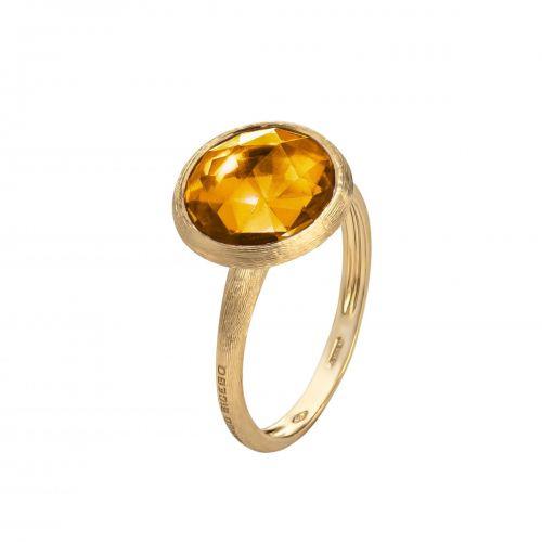 Marco Bicego Jaipur Ring mit gelbem Citrin Quarz Edelstein Gold 18 Karat AB586 QG01 Y