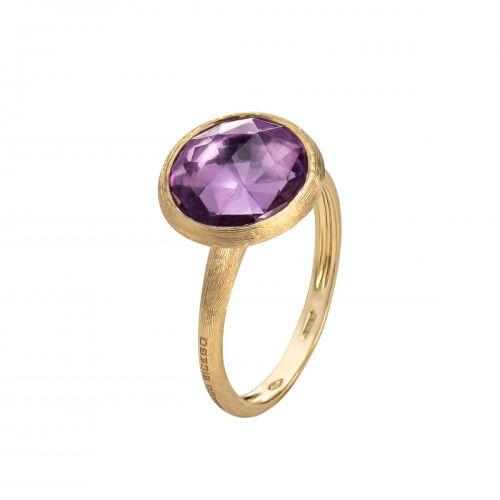 Marco Bicego Jaipur Color Ring mit lila Amethyst Edelstein Gold 18 Karat AB586 AT01 Y
