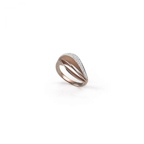 Annamaria Cammilli Ring Velaa Pave Braun Gold mit Diamanten Essential GAN3258C