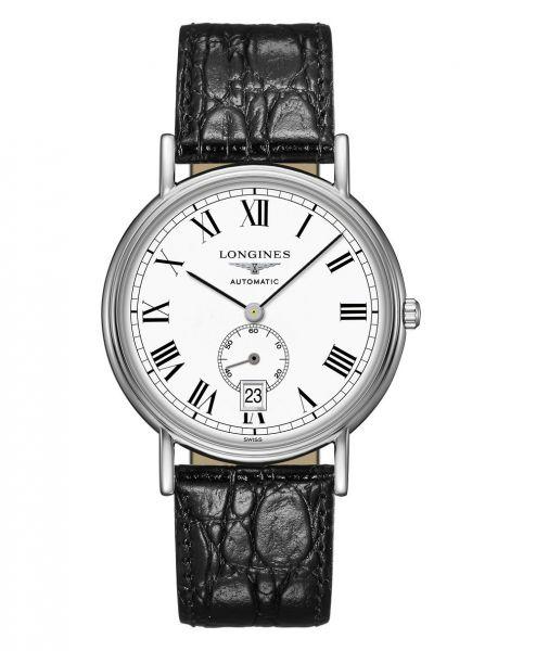 Longines Presence Automatic kleine Sekunde 38mm Silber Weiß Leder-Armband L4.805.4.11.2   Uhren-Lounge