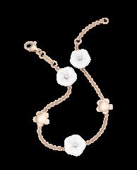 Meissen Armband Roségold 5 Blüten Porzellan Diamanten 1739 Royal Blossom MPJ30BL196C19