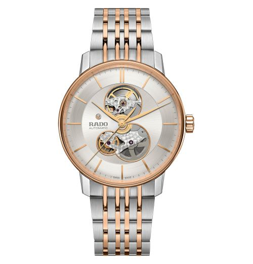 Rado Coupole Classic Open Heart Automatic XL Bicolor Rosegold Silber Edelstahl-Armband R22894023
