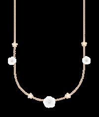 Meissen Halskette aus Roségold mit Porzellan-Blüten & Diamanten MPJ20BL196C45