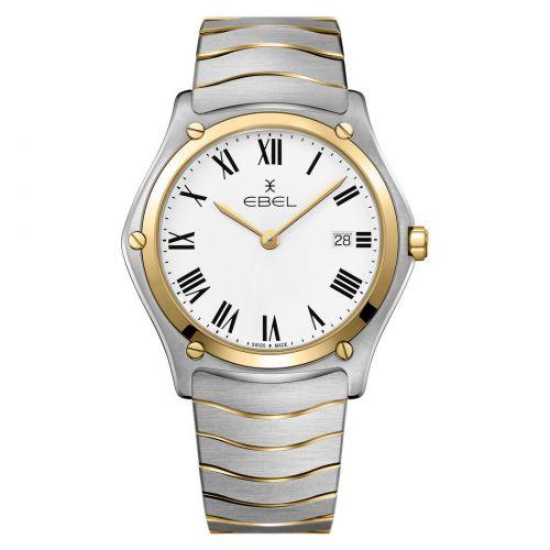 Ebel Sport Classic Gent Uhr Herren Bicolor mit 18K Gold Zifferblatt weiß 40mm 1216386A   Uhren-Lounge