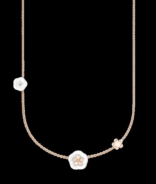 Meissen Halskette Roségold 3 Blüten Diamanten 1739 Royal Blossom MPJ20BL159C45