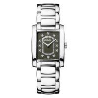 Ebel Brasilia Damenuhr Silber Anthrazit mit Diamanten Quarz 1216486