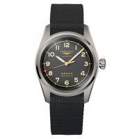 Longines Spirit Titan 42mm Anthrazit Synthetik-Armband Herrenuhr Automatik Chronometer L3.811.1.53.2