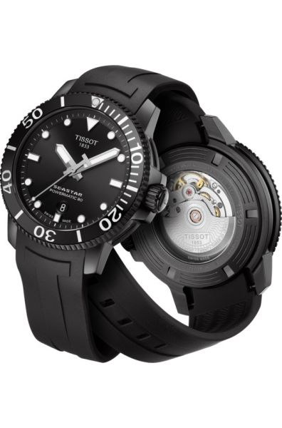 Tissot Seastar 1000 Powermatic 80 Schwarz Herren Automatik Taucheruhr 43mm T120.407.37.051.00