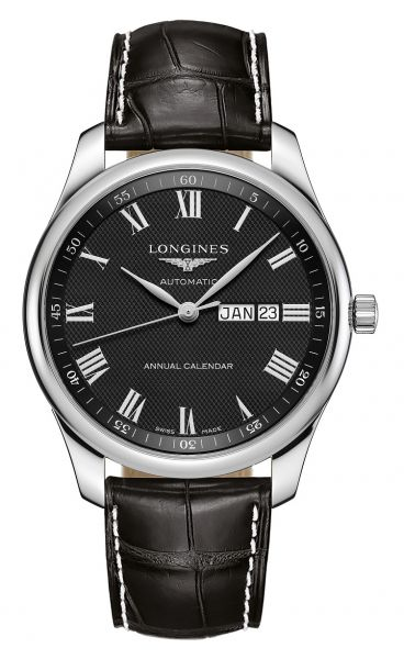 Longines Master Collection Jahreskalender Automatic 42mm Schwarz Leder-Armband L2.920.4.51.7 | Uhren-Lounge