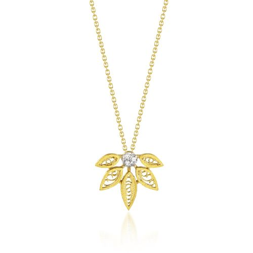 Luisa Rosas Anhänger & Kette Gold mit Diamanten House of Filigree HCO5516.EP