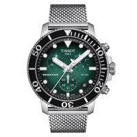 Tissot Seastar 1000 Chronograph Grün 45mm Milanaise-Edelsthl-Armband Quarz T120.417.11.091.00