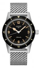 Longines Heritage Skin-Diver Automatic Herrenuhr 42mm Edelstahl-Armband L2.822.4.56.6 günstig online kaufen   Uhren-Lounge