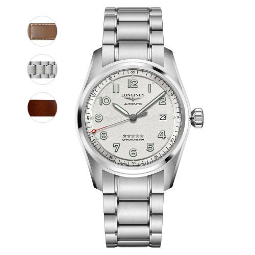 Longines Spirit Prestige Edition 40mm Silber Automatic Chronometer Herrenuhr L3.810.4.73.9 | Uhren-Lounge