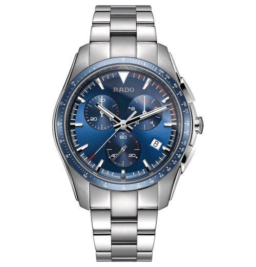 Rado HyperChrome Chronograph Blau XXL 45mm Quarz Edelstahl-Armband Herrenuhr R32259203