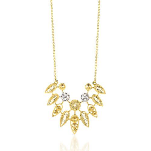 Luisa Rosas Kette mit Anhänger Gold & Diamanten House of Filigree HCO5514.AB
