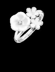 Meissen Ring 3 Blüten Weißgold mit Diamanten 1739 Royal Blossom MPJ10BL29600