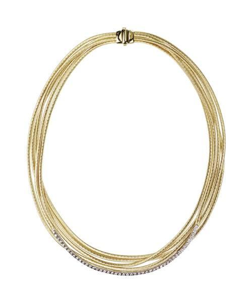 Marco Bicego Halskette Gelbgold 18 kt. & Diamanten 5 Stränge Cairo CG702-B | Uhren-Lounge