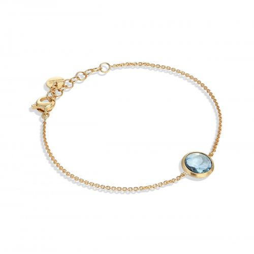 Marco Bicego Jaipur Armband mit blauem Topas Edelstein Gold 18 Karat BB2579 TP01 Y