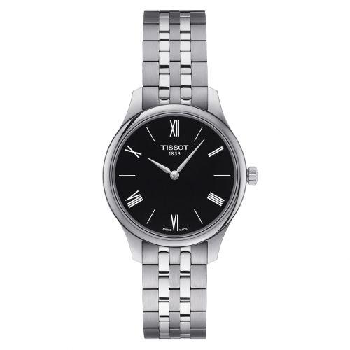 Tissot Tradition 5.5 Lady schwarz Edelstahl-Armband Quarz Damenuhr 31mm T063.209.11.058.00 | Uhren-Lounge