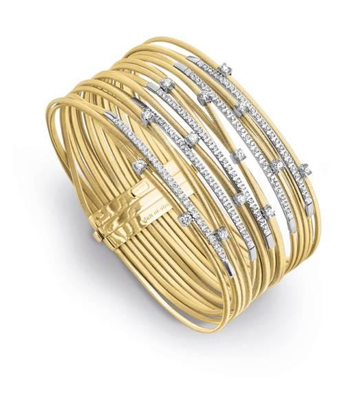 Marco Bicego Damen Armband Goa 18cm aus 18kt Gold mit Diamanten BG688 B2