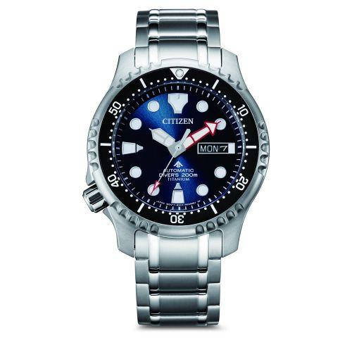 Citizen NY0100-50ME Promaster Marine Automatik Diver Super Titanium Herren Taucheruhr Blau 42mm