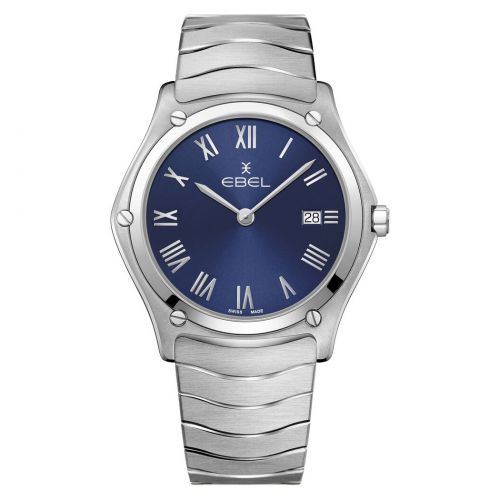 Ebel Sport Classic Gent Uhr Herren 40mm Zifferblatt Blau Edelstahl-Armband 1216420A   Uhren-Lounge