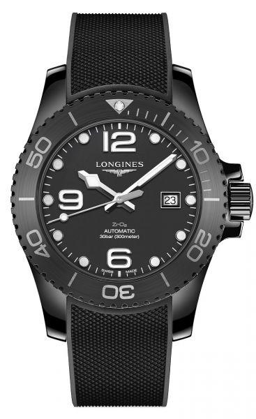 Longines HydroConquest Keramik Automatic Schwarz 43mm Kautschuk-Armband Taucheruhr L3.784.4.56.9   Uhren-Lounge